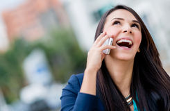 Business woman making a phone call Royalty Free Stock Image
