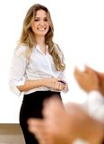 Business woman making a presentation Royalty Free Stock Photography