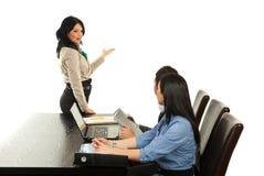 Business woman making presentation Royalty Free Stock Image