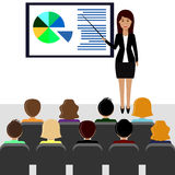 Business woman making presentation, boardroom Stock Photography