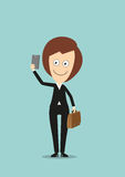 Business woman making selfie shot with smartphone Stock Photography