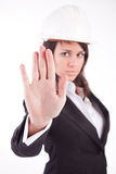 Business woman, making stop sign Stock Photography