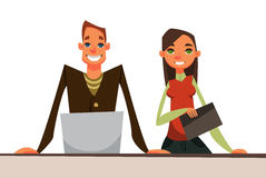 Business woman and man. Characters for web design. set of characters Royalty Free Stock Image
