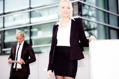 Business woman man digital tablet Royalty Free Stock Image