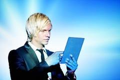 Business woman man digital tablet Royalty Free Stock Photo