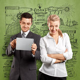 Business Woman and Man Royalty Free Stock Image