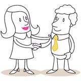 Business woman and man shaking hands Royalty Free Stock Photo