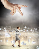 Business woman marionette Royalty Free Stock Photography