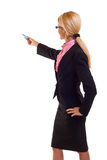 Business woman with marker Royalty Free Stock Image