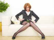 Business woman with martini Royalty Free Stock Photo
