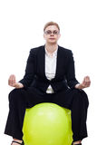 Business woman meditation Royalty Free Stock Image
