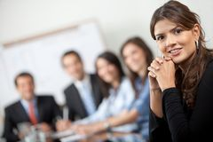 Business woman at a meeting Stock Photos