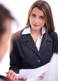 Business woman at meeting Royalty Free Stock Photos