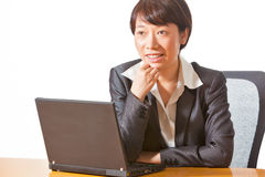 Business woman in meeting Royalty Free Stock Image