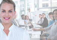 Business woman, meeting Royalty Free Stock Photos