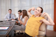 Business woman at the meeting Stock Photo