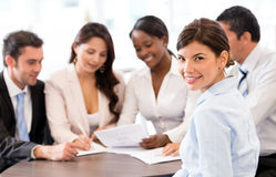 Business woman in a meeting Stock Photography