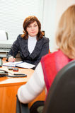 Business woman meets Royalty Free Stock Images