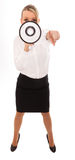Business Woman Megaphone Stock Image