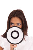 Business Woman Megaphone Royalty Free Stock Photo