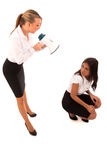 Business Woman Megaphone Stock Images