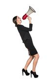 Business woman with megaphone Stock Photography