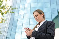 Business woman with mobile Stock Photos