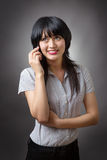 Business woman with mobile Royalty Free Stock Images
