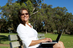 Business Woman and Mobile Office Stock Photography