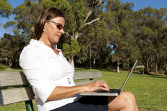 Business Woman and Mobile Office Royalty Free Stock Image