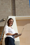 Business Woman and Mobile Office Stock Images