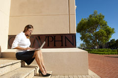 Business Woman and Mobile Office stock photos