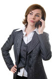 Business woman with mobile phone Royalty Free Stock Image