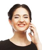 Business woman with mobile phone Stock Photos