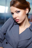 Business woman in modern interior Royalty Free Stock Photos
