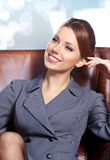 Business woman in modern interior Royalty Free Stock Images