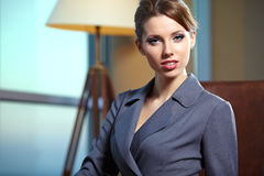 Business woman in modern interior Stock Image