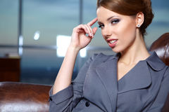 Business woman in modern interior Royalty Free Stock Photo