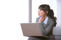 Business woman modern office Stock Images