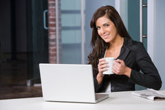 Business woman in a modern office Royalty Free Stock Photos