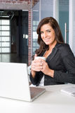 Business woman in a modern office Stock Photos