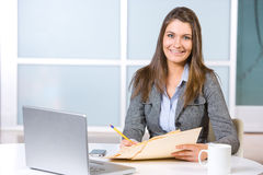 Business woman in modern office Royalty Free Stock Images