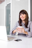 Business woman in modern office Stock Image
