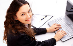 Business woman at modern office Stock Photos