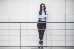 Business woman in modern office building Stock Photo