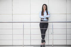 Business woman in modern office building Royalty Free Stock Image