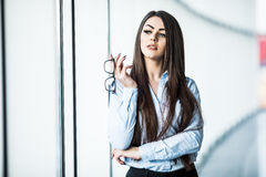 Business woman in modern office. Stock Image