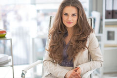 Business woman in modern office Royalty Free Stock Image