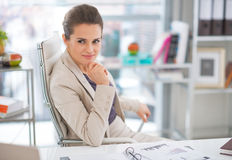 Business woman in modern office Stock Images