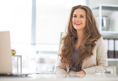 Business woman in modern office Royalty Free Stock Photo